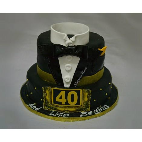 Tuxedo Themed Cake
