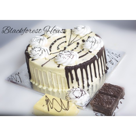 Half Black Half White Forest Cake