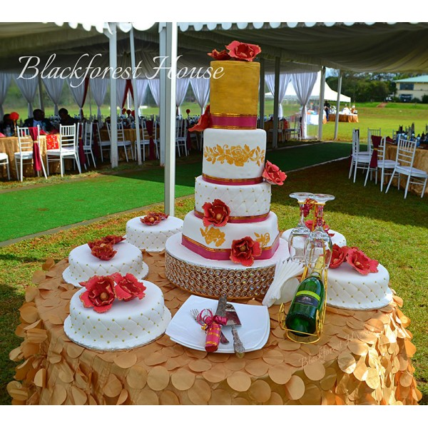 4-Tiered Wedding Cak...